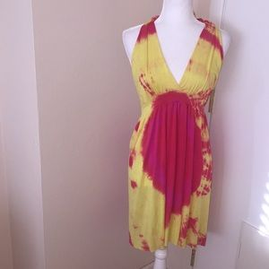 L NWOT LOVE TANJANE Halter Dress BB51 2109